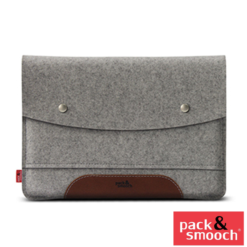 Pack&Smooch Hampshire Apple iPad Pro 12.9 吋手作羊毛氈保護內袋 (石灰/淺棕)