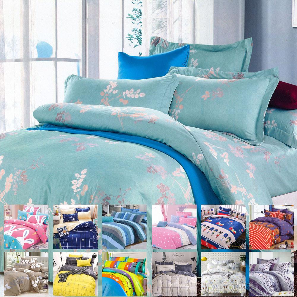 ~法式寢飾花季~ 典藏~天使絨加大雙人3件式床包組大白兔