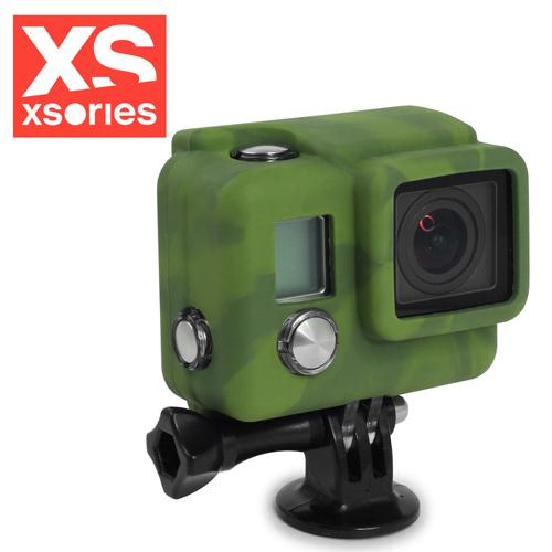 法國XSories SILICONE COVER HD3+ GoPro矽膠保護套迷彩