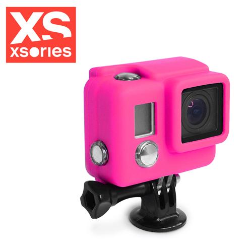 法國XSories SILICONE COVER HD3+ GoPro矽膠保護套粉紅