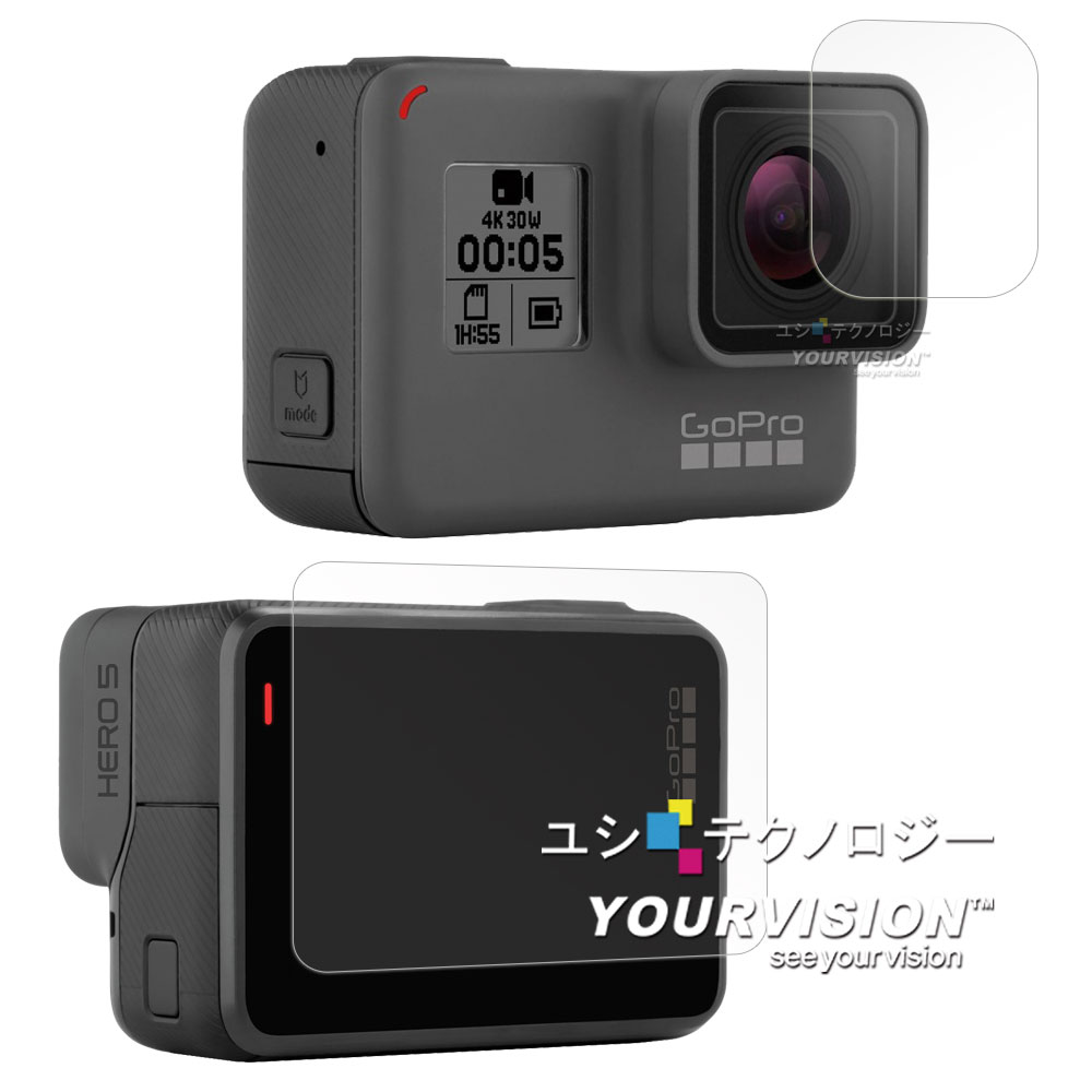 GoPro HERO 5 相機鏡頭+觸控螢幕 光學抗刮螢幕保護貼