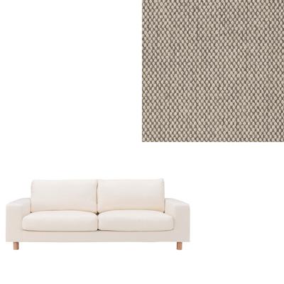 [MUJI 無印良品]棉平織羽毛加量沙發套/米色2.5人