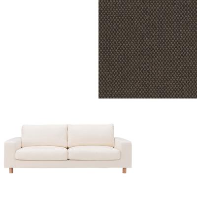 [MUJI 無印良品]棉平織羽毛加量沙發套/深棕2.5人