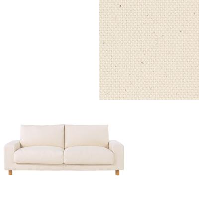 [MUJI 無印良品]棉帆布羽毛加量沙發套/原色/2.5人