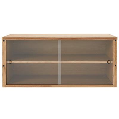 [MUJI 無印良品]SUS層架收納箱/橡木箱.玻璃門寬84.5×深38×高37cm
