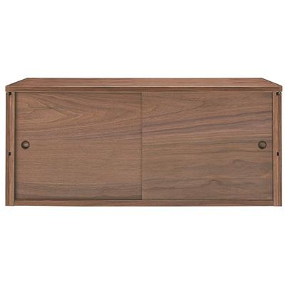 [MUJI 無印良品]SUS層架收納箱/胡桃木箱.拉門式