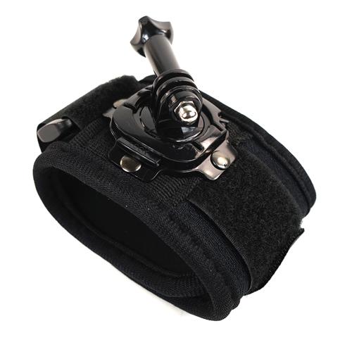 GOPRO SJCAM 相機 攝影機 手腕帶 臂帶 360度旋轉設計 支架 固定帶黑色