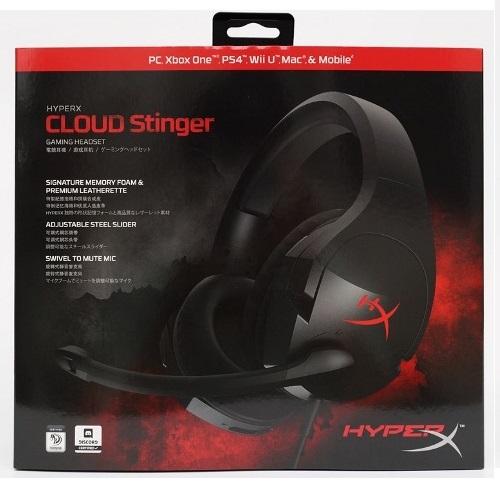 PS4 HyperX Cloud Stinger 電競耳機麥克風 (黑)