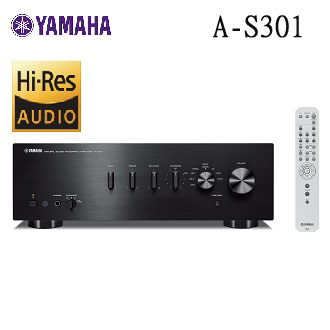YAMAHA 綜合擴大機 AS-301 兩聲道綜合擴大機 數位音響輸入支援 TV 或藍光播放機