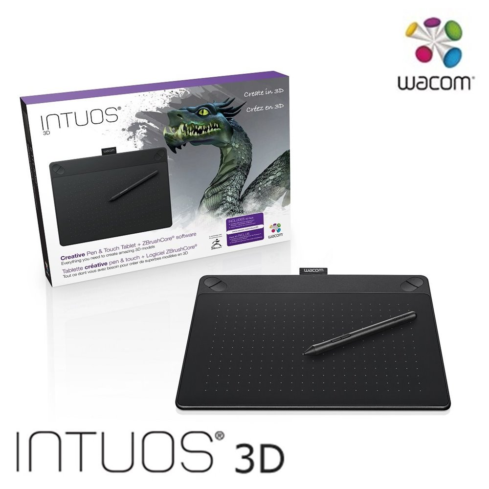 Wacom Intuos 3D 創意觸控繪圖板 Medium (黑)