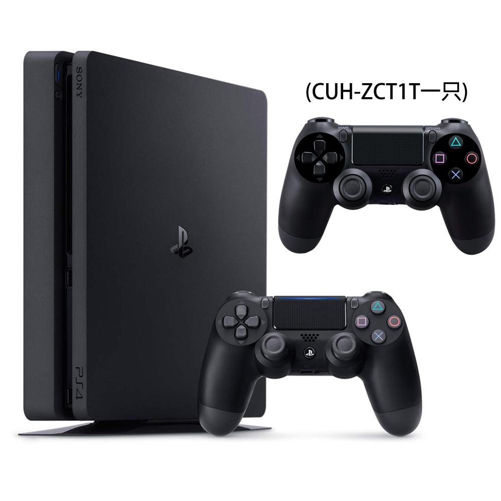 SONY PS4主機 CUH-2017系列500GB-極致黑+第二手把-極致黑ZCT1T