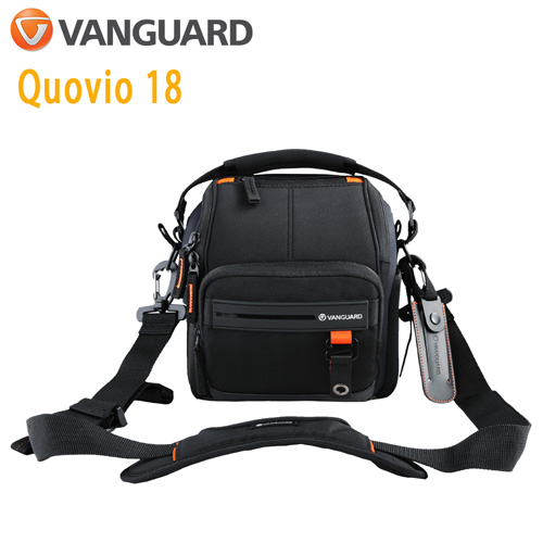 VANGUARD 精嘉 Quovio 闊影者 18 攝影側背包(可腰掛)(公司貨)黑