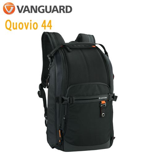 VANGUARD 精嘉 Quovio 闊影者 44 攝影雙肩單肩兩用包(公司貨)黑
