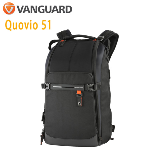 VANGUARD 精嘉 Quovio 闊影者 51 攝影長鏡頭雙肩包(公司貨)黑