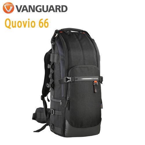 VANGUARD 精嘉 Quovio 闊影者 66 攝影超長鏡頭雙肩包(公司貨)黑