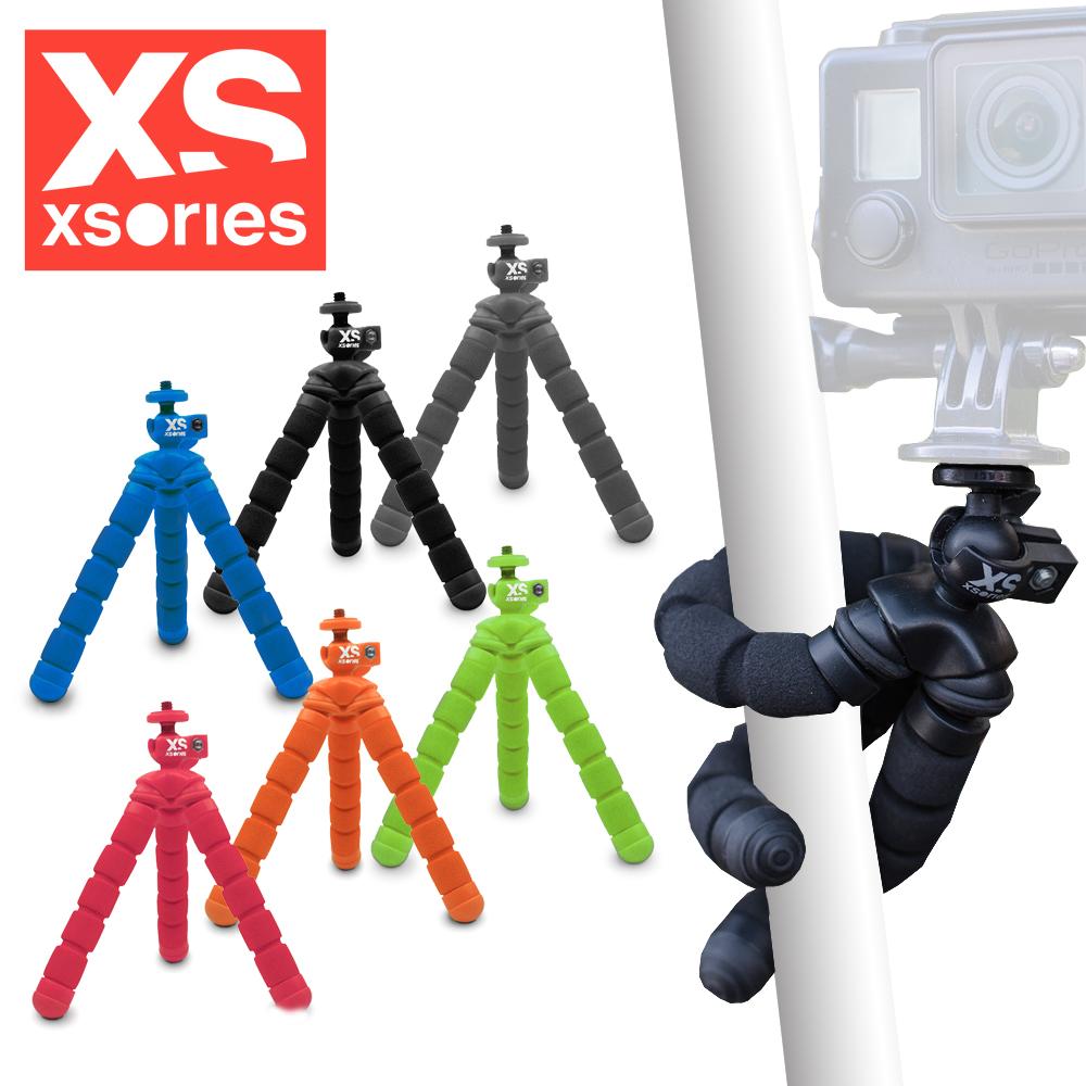 法國XSories Mini Bendy monochrome 手機/GoPro/VR攝影八爪魚三腳架(14cm)藍色