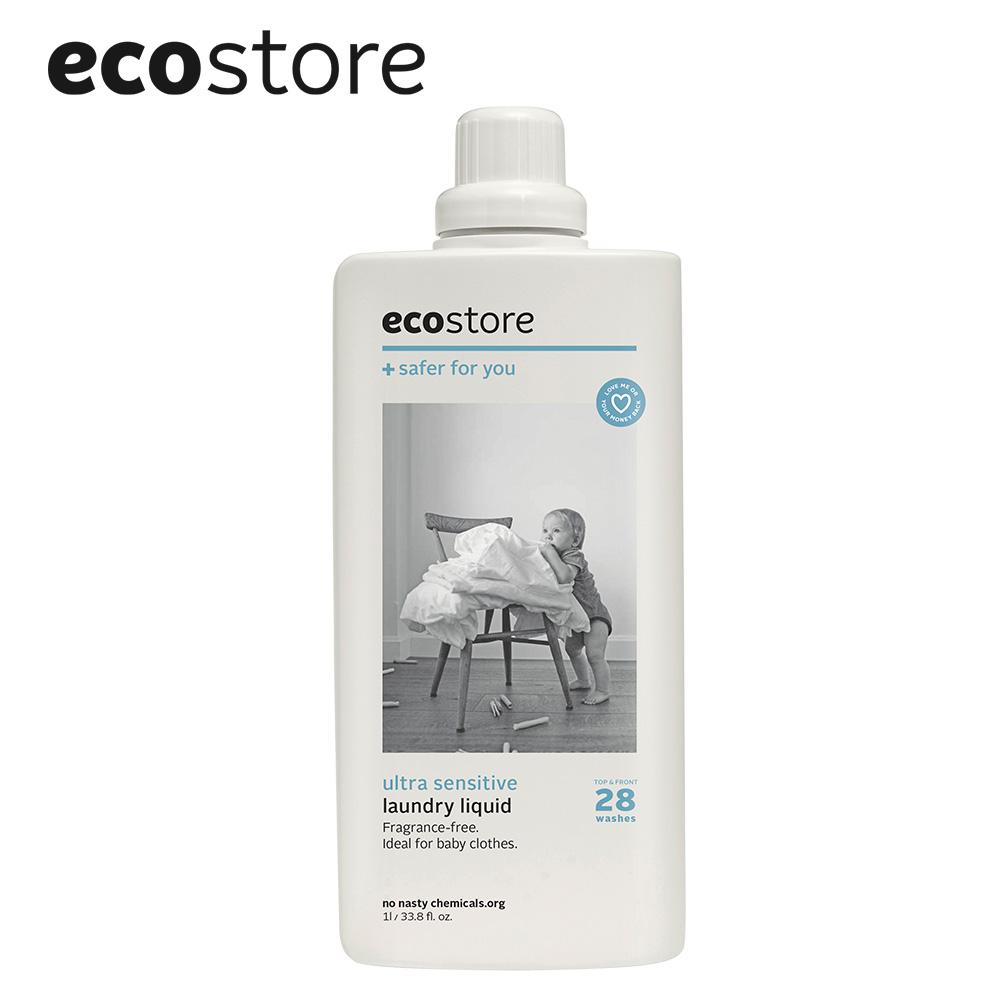 【ecostore】超濃縮環保洗衣精-抗敏無香1L (6入/箱)