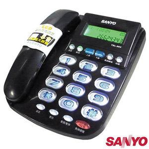 台灣三洋 大字鍵 超大鈴聲 來電顯示 有線電話 TEL-982黑色