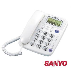 三洋 SANYO 來電超大鈴聲 免持撥號 顯示型 有線電話 TEL-991 三色可選白色