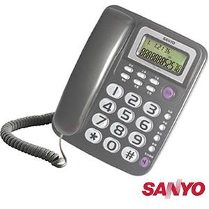 三洋 SANYO 來電超大鈴聲 免持撥號 顯示型 有線電話 TEL-991 三色可選鐵灰色