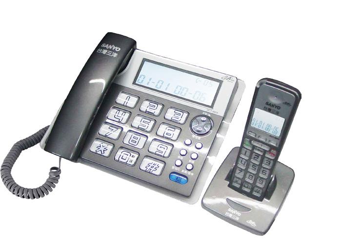 三洋 SANYO 數位長距離/大字鍵 無線子母機 DCT-8909 (三色)鐵灰色