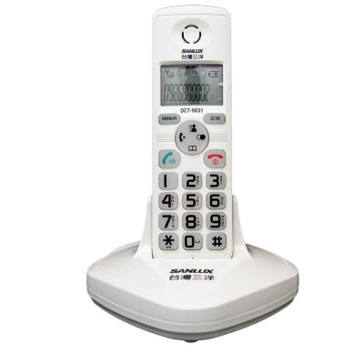 【台灣三洋】SANLUX 數位DECT無線電話 DCT-9831白色
