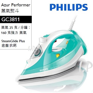 PHILIPS飛利浦 Azur Performer蒸氣熨斗 GC3811