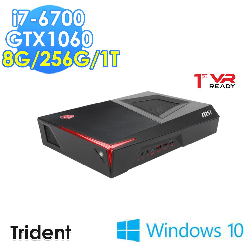 msi微星 Trident-012TW i7-6700 GTX1060 WIN10 電競桌機