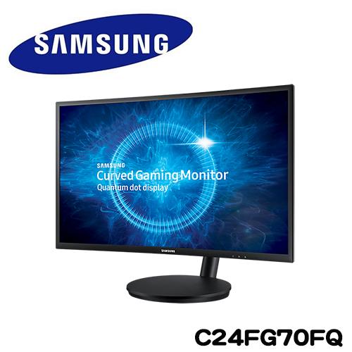 SAMSUNG三星 C24FG70FQE 24型VA曲面低藍光電競液晶螢幕