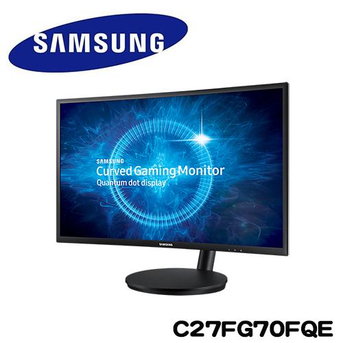 SAMSUNG三星 C27FG70FQE 27型VA曲面低藍光電競液晶螢幕