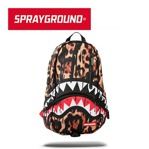 【SPRAYGROUND】DLXX 系列 Leopard Drips 豹紋鯊魚潮流筆電後背包