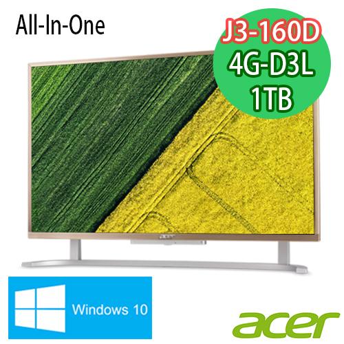 ACER宏碁 Aspire C 22型 J3160D四核 1TB大容量 AIO超纖薄液晶電腦 (C22-720)