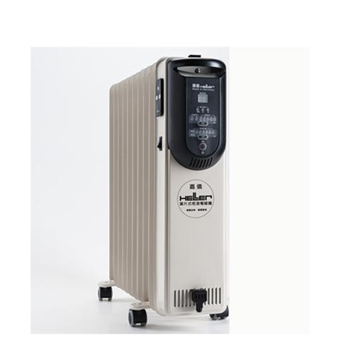 德國HELLER嘉儀10葉片式微電腦遙控電暖器KED510T