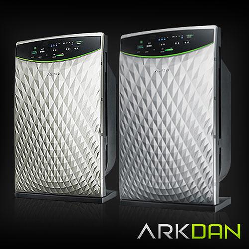 【阿沺ARKDAN】10坪菱紋時尚款空氣清淨機 APK-CR9P鈦銀色