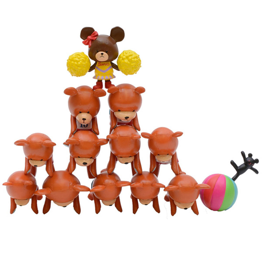 迪士尼 ENSKY 疊疊樂 NOS-09 啦啦隊 熊學校 日版