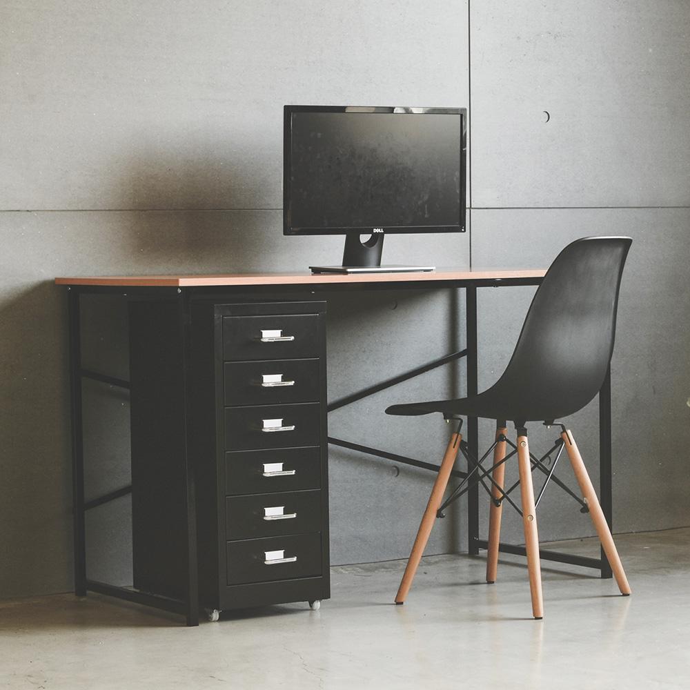 Peachy Life 工作桌櫃組/活動櫃/公文櫃/檔案櫃/電腦桌(2色可選)黑色
