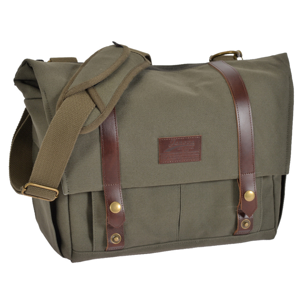 吉尼佛 JENOVA ROAMING 82 都市漫遊者系列 側背包 (中)/綠色
