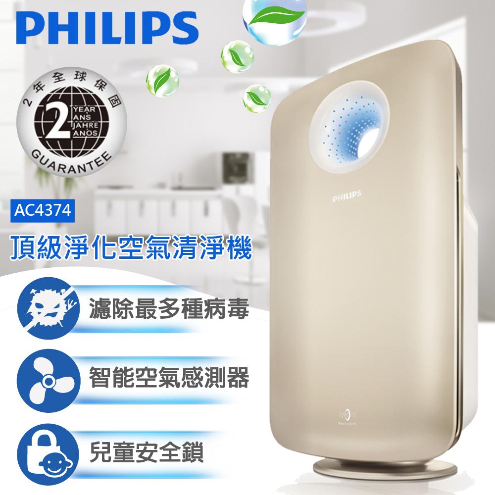 【飛利浦 PHILIPS】PM2.5頂級進化空氣清淨機AC4374