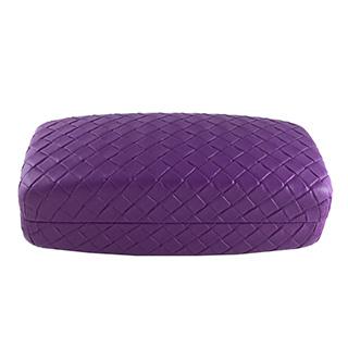 【Kelly C.】繽紛時尚-編織質感硬盒/眼鏡盒/收納盒/置物盒(紫色)