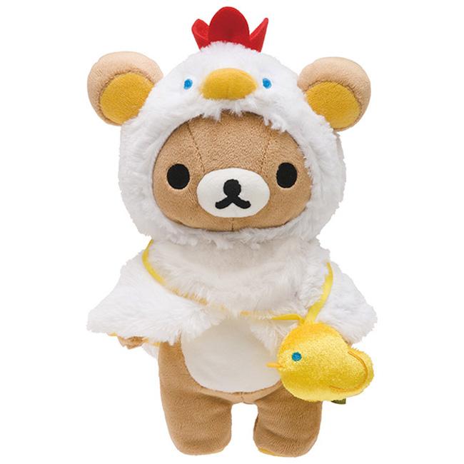 San-X 拉拉熊 2017 雞年新春店舖限定版毛絨公仔。懶熊