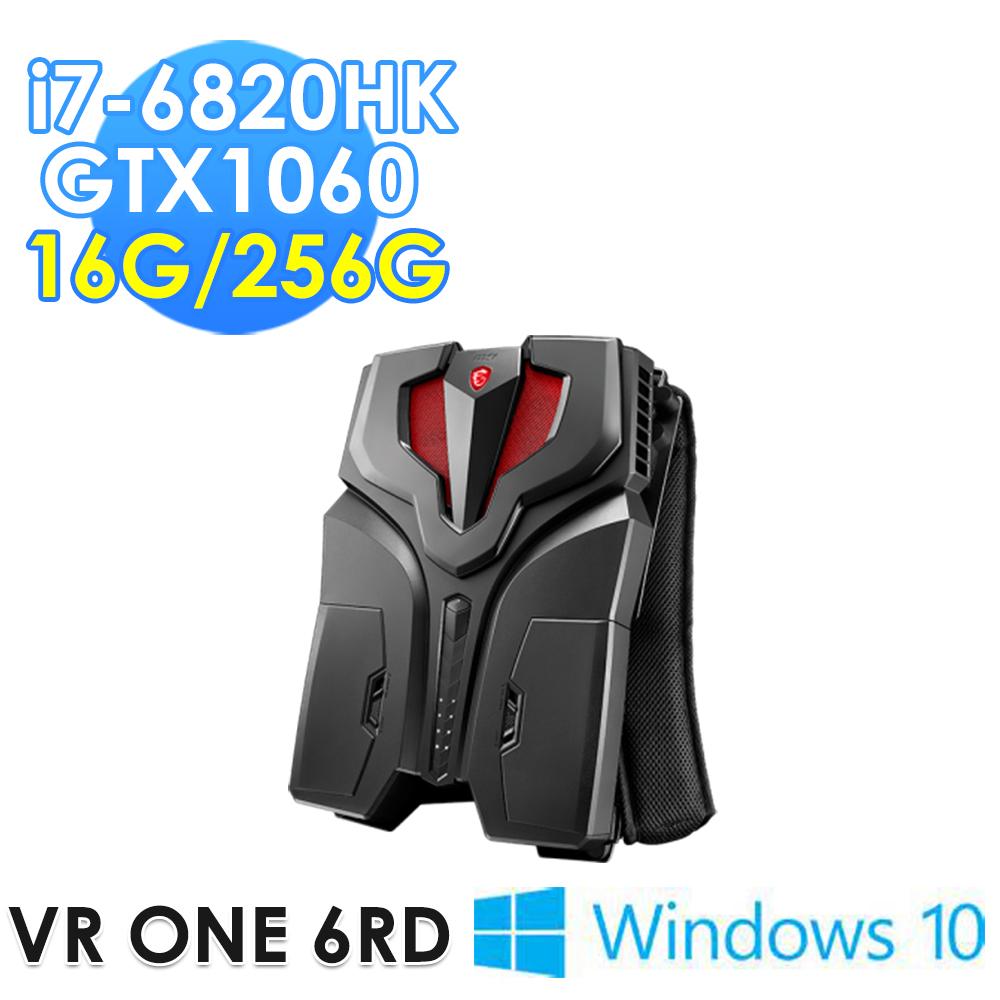 msi微星 VR ONE 6RD-011TW i7-6820HK GTX1060 WIN10 背包PC