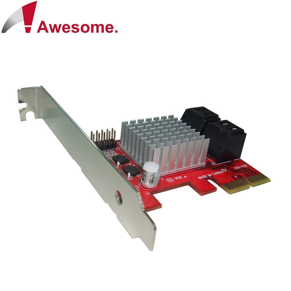 Awesome PCIe 2.0x4埠AHCI SATAIII 6.0擴充卡-AWD-PE-120
