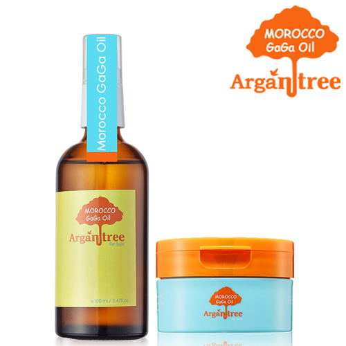 Morocco GaGa Oil 摩洛哥護髮專科堅果油100ml+滋養護髮膜100ml(多款可選)輕浪漫