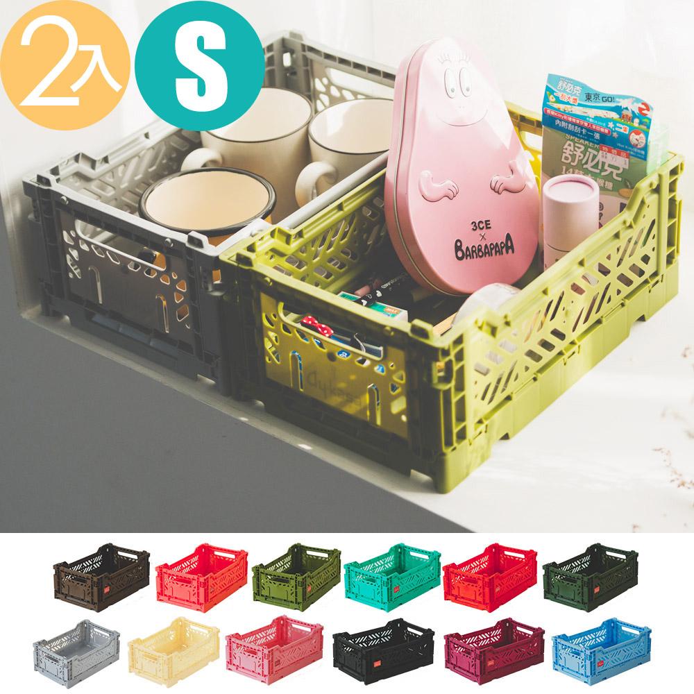 Peachy Life Aykasa堆疊式收納籃/抽屜/整理箱-S(2入組)(12色可選)咖啡色