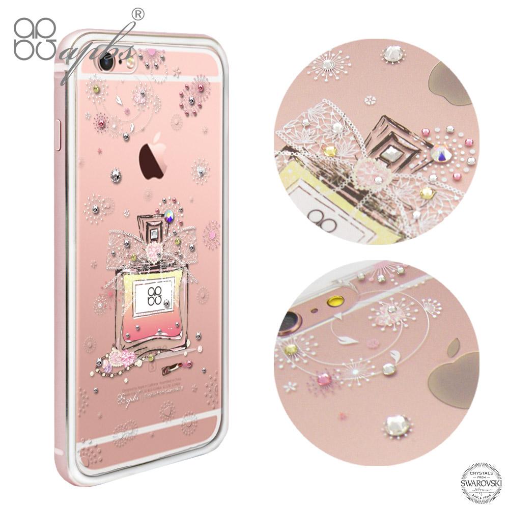 apbs iPhone6s /6 4.7吋 施華洛世奇彩鑽鋁合金屬框手機殼-玫瑰金維也納馨香
