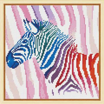 [HOMEHERE] DIY鑽石畫/彩色斑馬