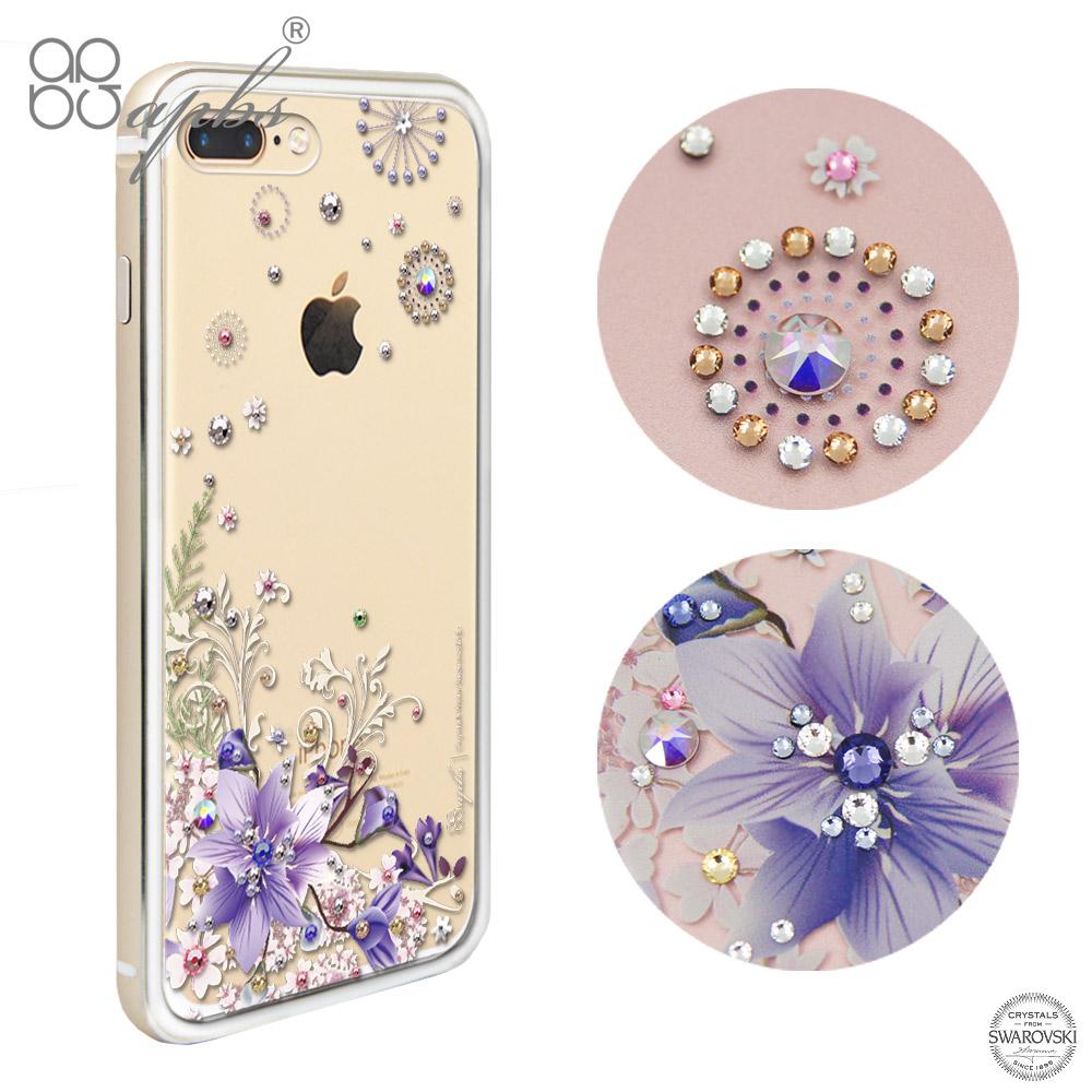 apbs iPhone7 PLUS 5.5吋 施華洛世奇彩鑽鋁合金屬框手機殼-金色祕密花園