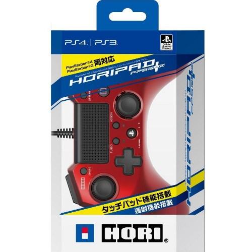 PS4/PS3 HORI FPS 有線連發手把 紅 (PS4-027)