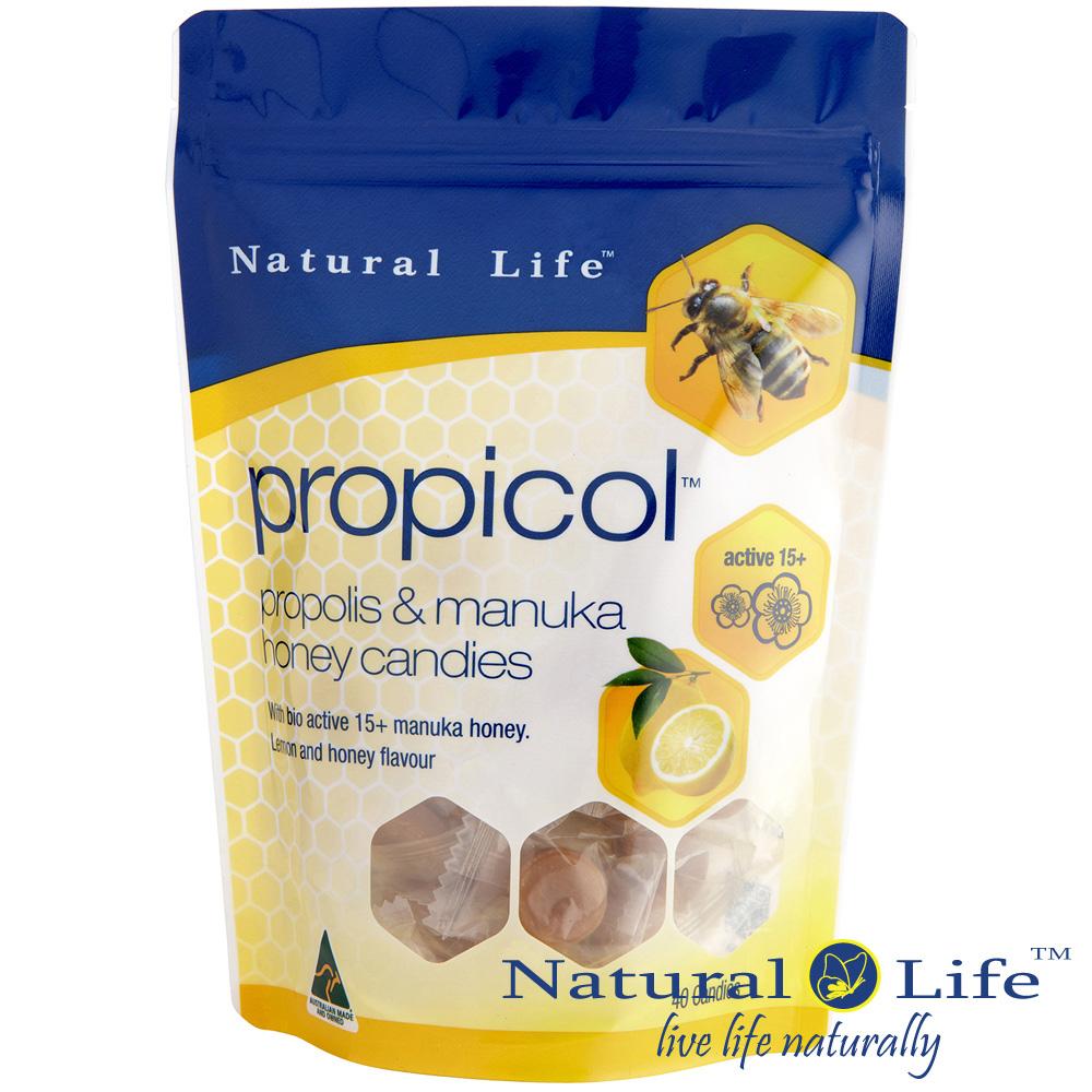 澳洲Natural Life活性麥蘆卡蜂蜜蜂膠潤喉糖(40顆)