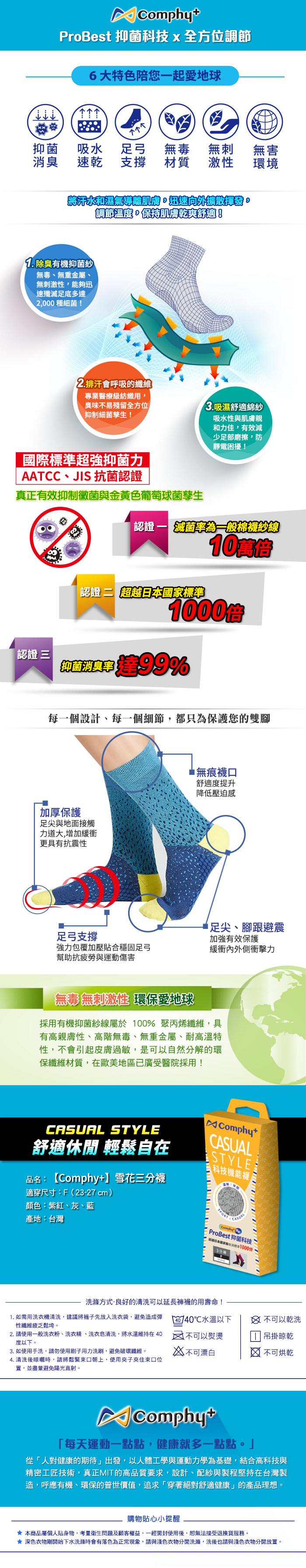 comphy,comphyplus,運動襪,科技機能襪,除臭襪,抑菌襪,除臭,抑菌,阿瘦皮鞋,襪子,休閒襪